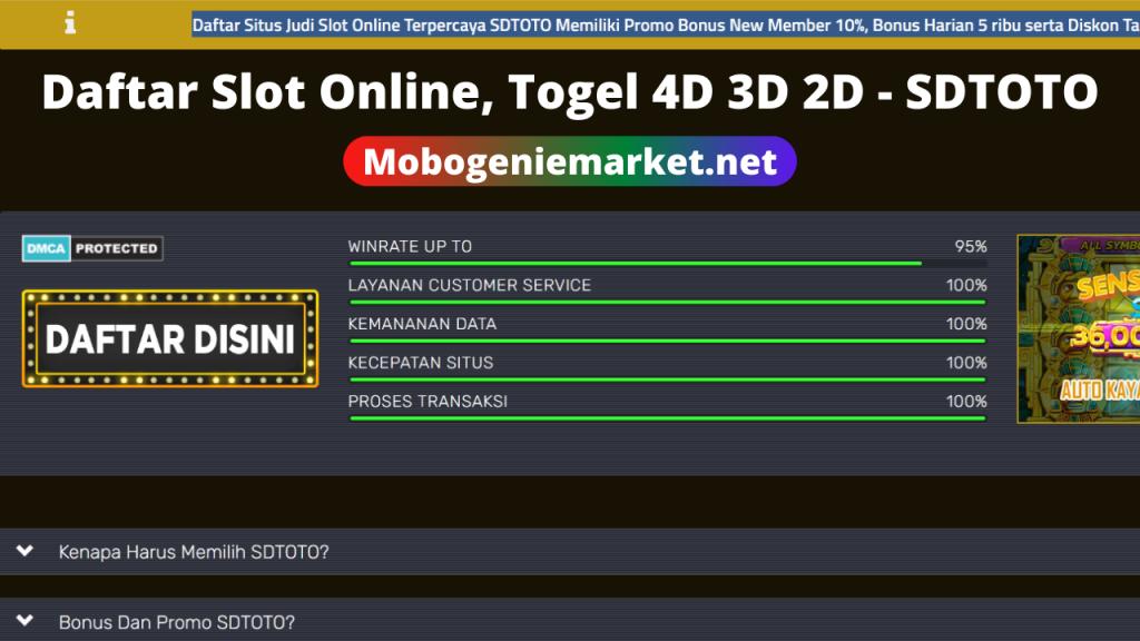 Daftar Slot Online Togel 4d 3d 2d Sdtoto Site Title